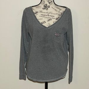 Hollister Long Sleeve Grey Tee Size Large